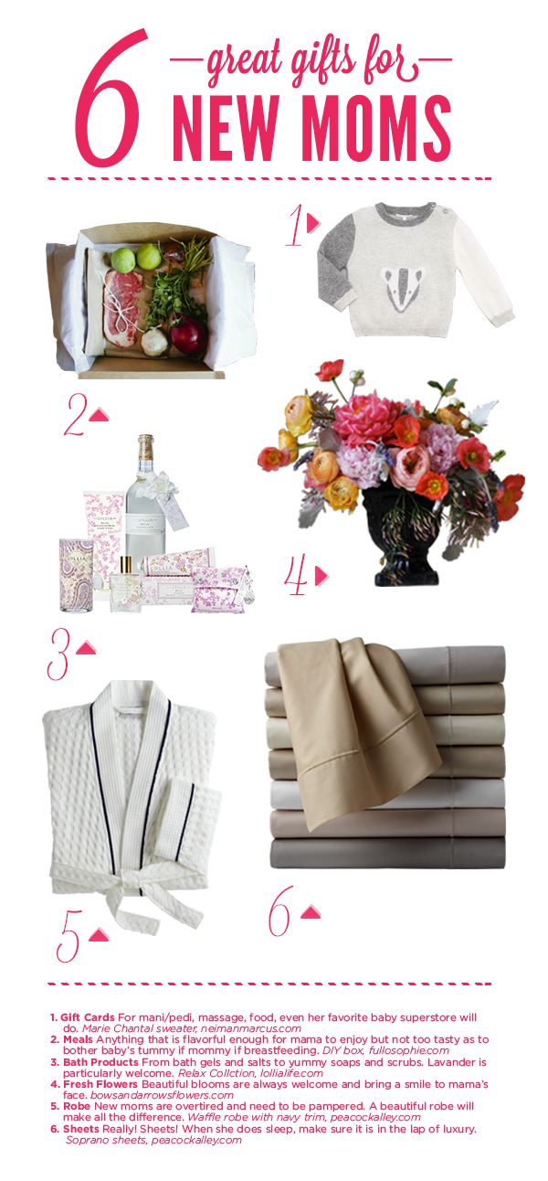 6 simple gift ideas for a new mom for Great present for mom